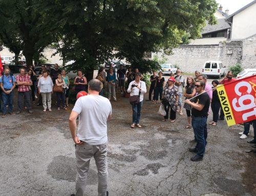 RASSEMBLEMENT DE SOUTIEN DES TERRITORIAUX DE CHAMBERY LE 06/06/18