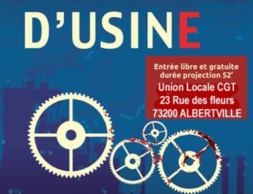 CINÉ DÉBAT ALBERTVILLE MARDI 19 NOVEMBRE «PUTAIN D'USINE»
