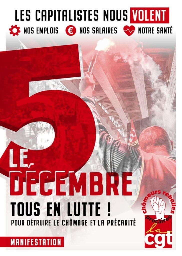 Le 5 décembre : Tous ensemble contre la précarité et pour l'emploi
