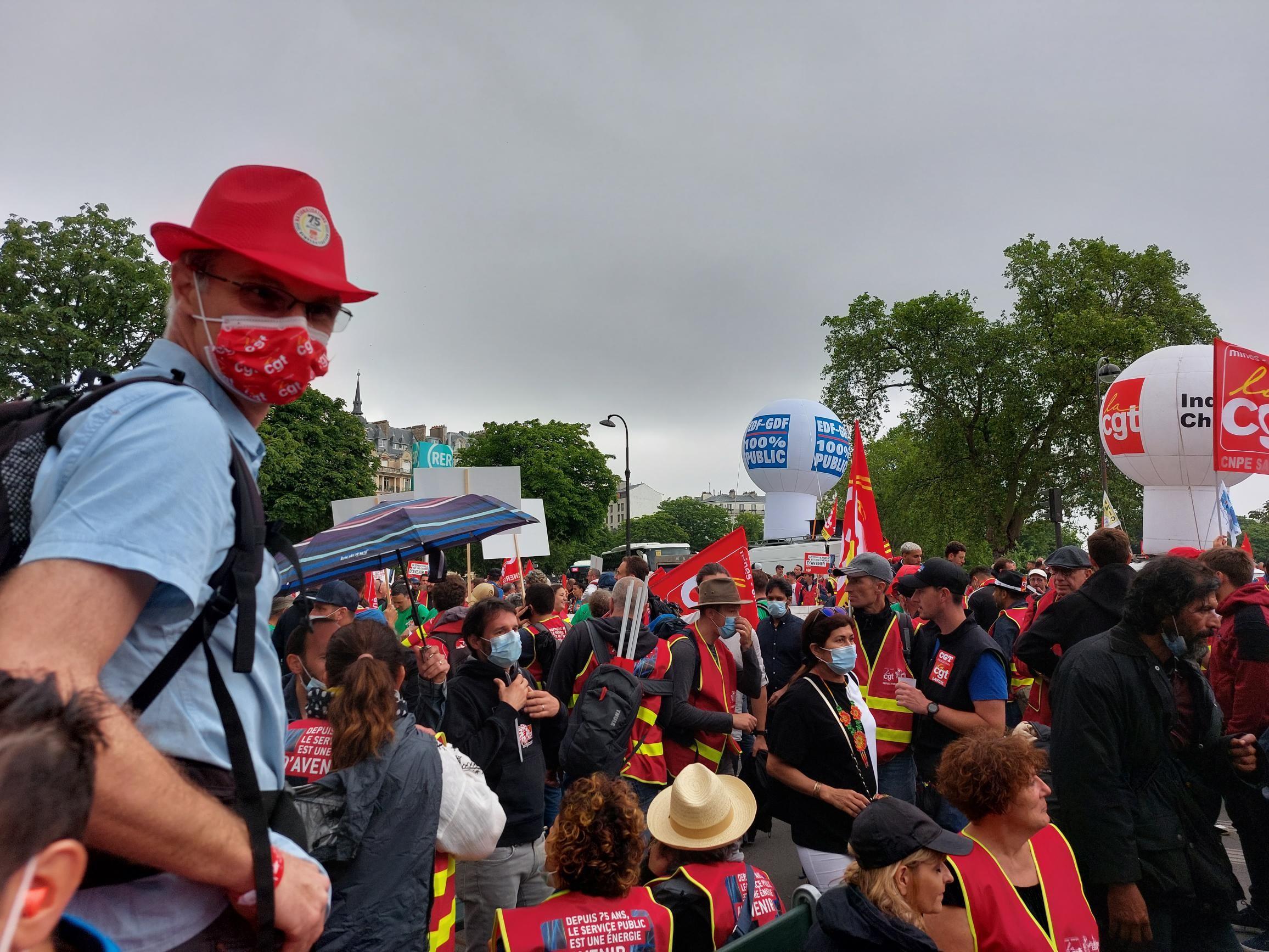 Luttes à Paris: la CGT se mobilise pour le développement des Services Publics le 22/06/21