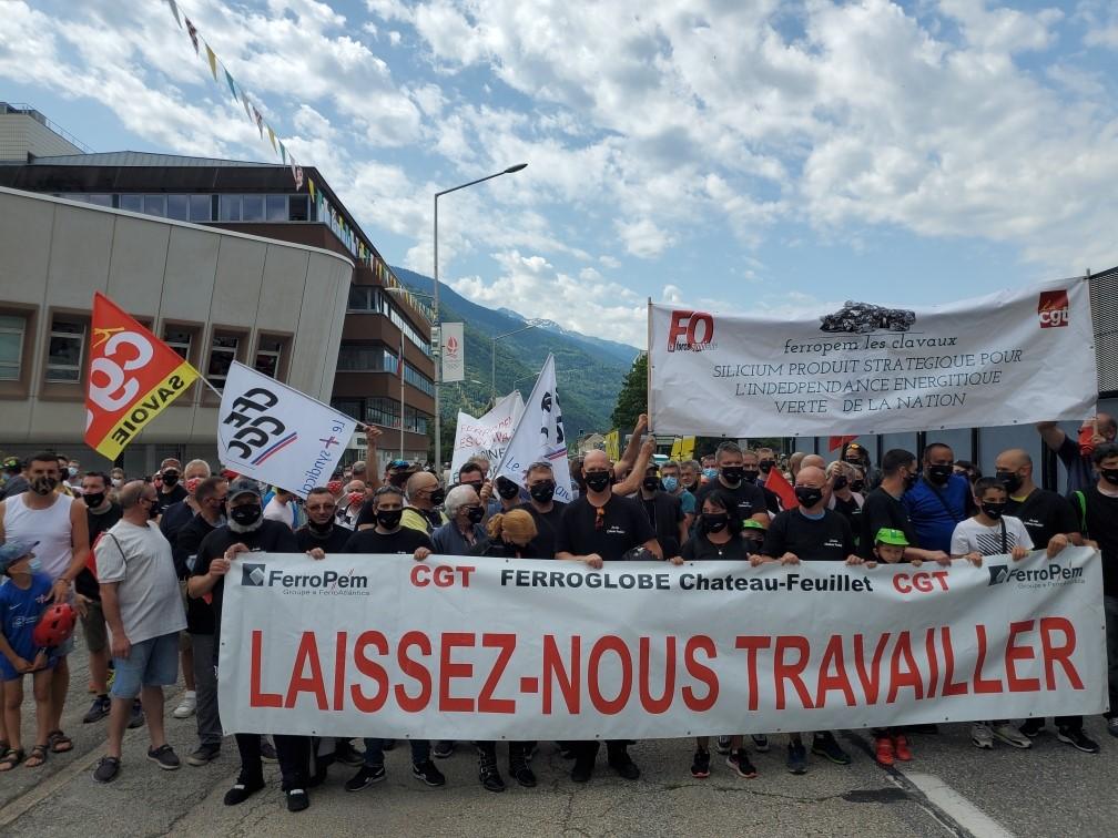 Luttes en Savoie: les Chateau Feuillet avec la CGT 73 au Tour de France