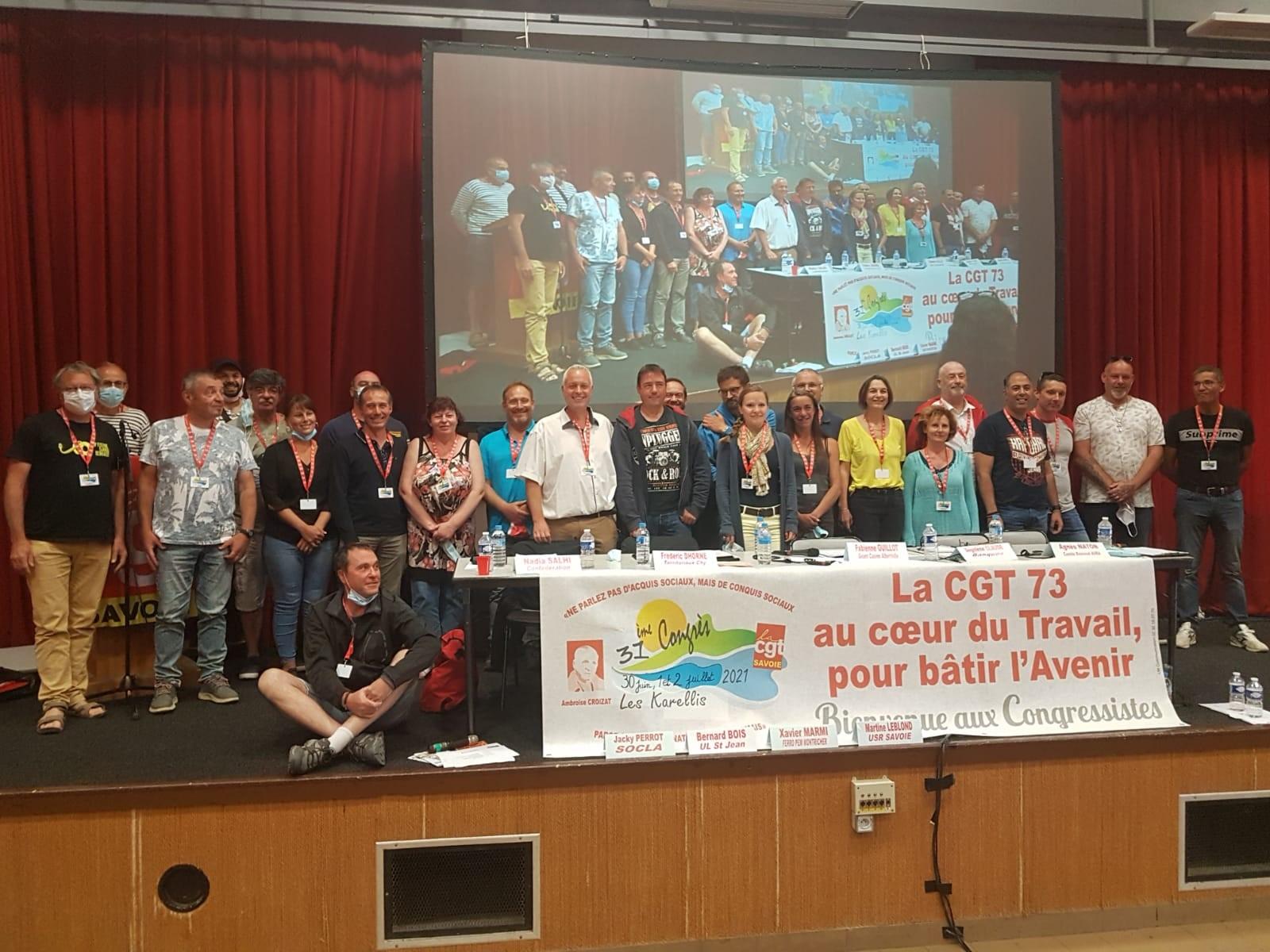 31ème Congrès de l'Union Départementale des Syndicats CGT 73
