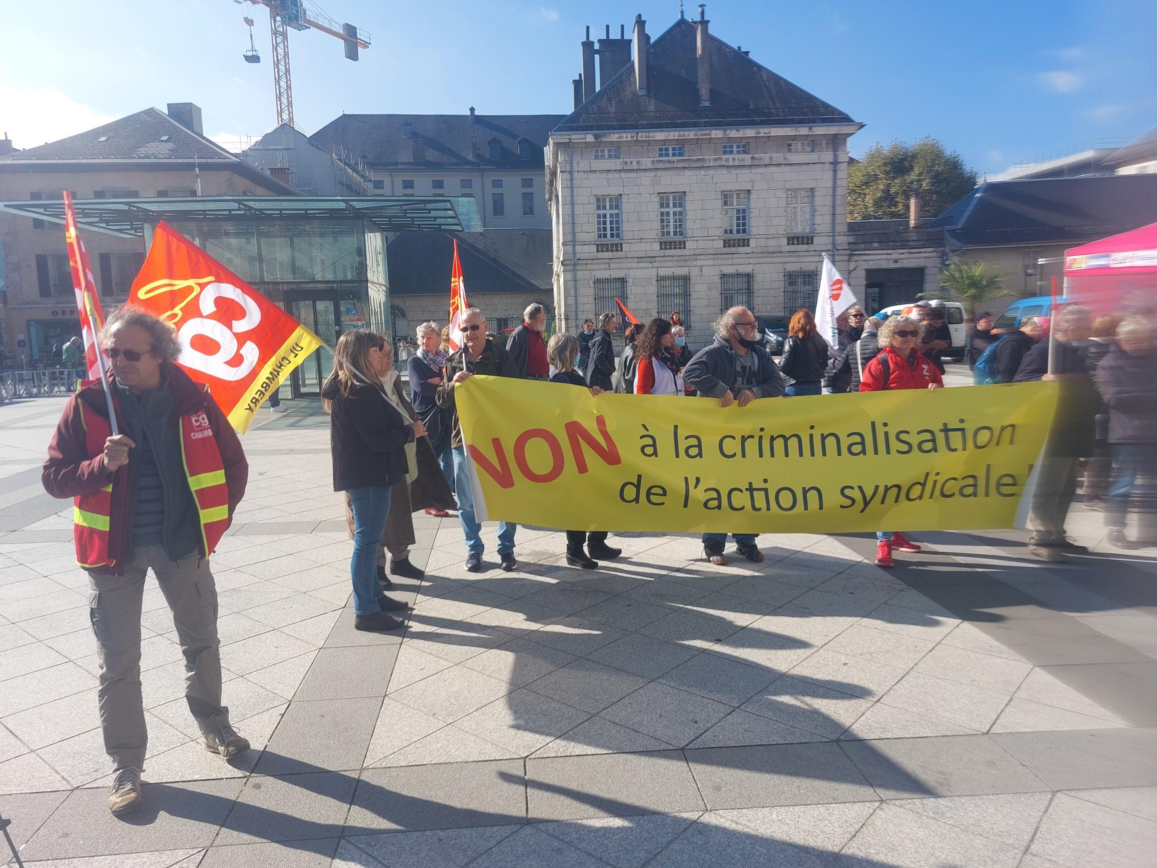 ça lutte en Savoie: pour les Libertés Syndicales le 14 octobre 2021