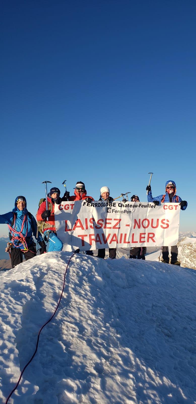 ça lutte en Savoie: les Chateau Feuillet au sommet du Mont Rose (4630 m!)